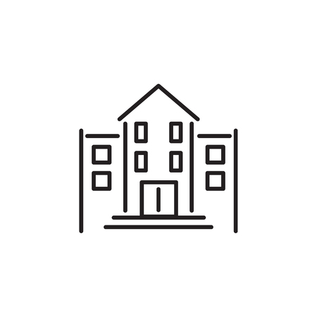 Simple school Buildings Icon Vector on the white background 일러스트