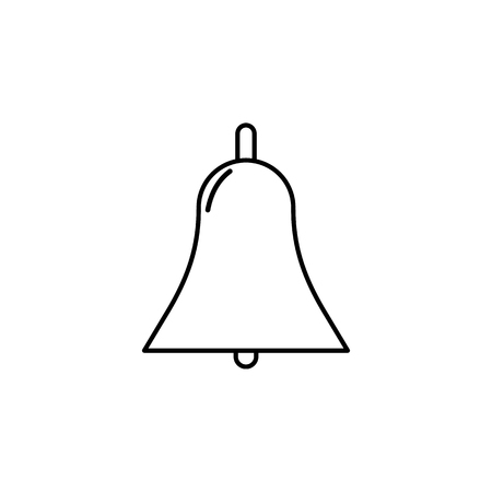 Simple bell icon on white background
