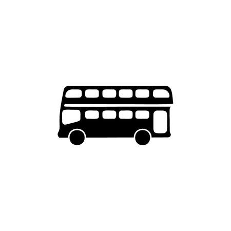 Simple double decker bus icon.
