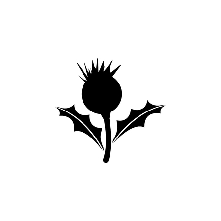 Thistle flower icon. Element of United Kingdom culture icons. Premium quality graphic design icon. Signs, outline symbols collection icon for websites, web design, mobile app on white background