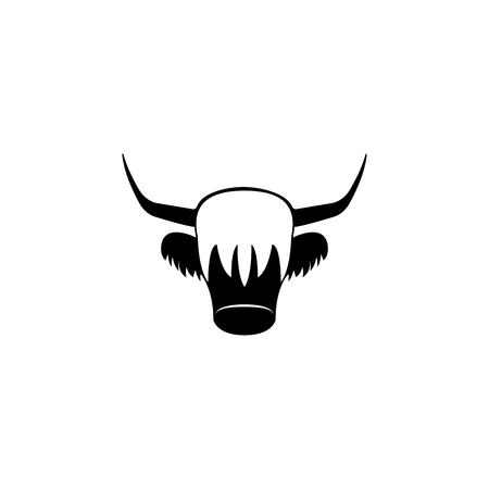 Red Yak icon. Element of United Kingdom culture icons. Premium quality graphic design icon. Signs, outline symbols collection icon for websites, web design, mobile app on white background Illustration
