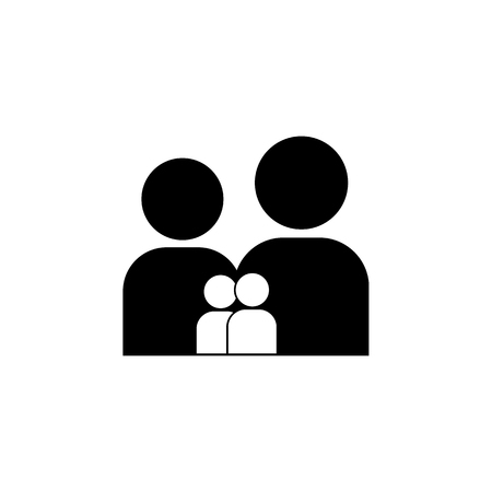 family icon. Simple black family icon. Can be used as web element, family design icon on white background Illustration