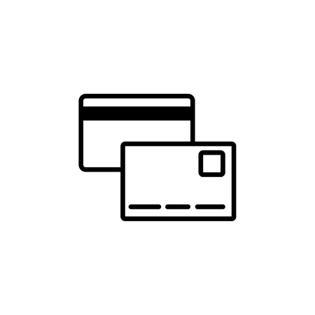 Credit Card Icon on the white background Vettoriali