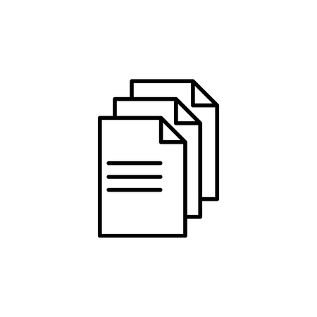 line note paper icons on the white background