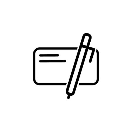 icon write for website, vector on the white background