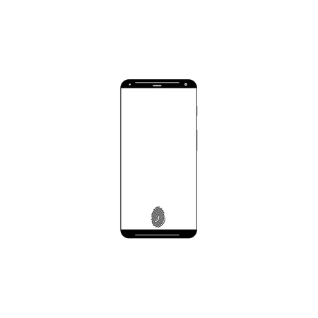 Frameless display smartphone. . Mobile phone element icon. Premium quality graphic design. Signs, outline symbols collection icon for websites, web design, mobile app, info graphics white background Illustration