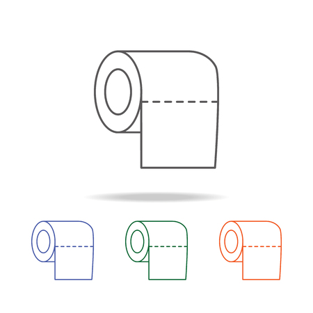 Toilet tissue paper roll icon