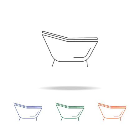Single bathtub icon. Element of bathroom tools multi colored icon for mobile concept and web apps. Icon for website design and development, app development. Premium icon on white background