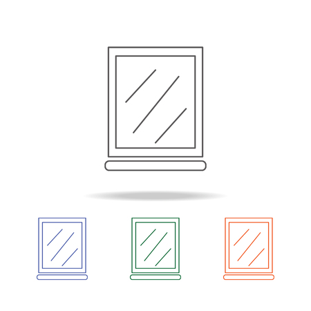 mirror icon. Element of bathroom tools multi colored icon for mobile concept and web apps. Icon for website design and development, app development. Premium icon on white background Illustration