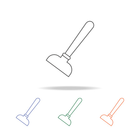 plunger icon. Element of bathroom tools multi colored icon for mobile concept and web apps. Icon for website design and development, app development. Premium icon on white background