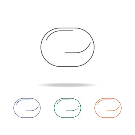 Icône de tampon de savon. Élément d'icône multicolore d'outils de salle de bain pour concept mobile et applications Web. Icône pour la conception et le développement de sites Web, le développement d'applications. Icône Premium sur fond blanc.