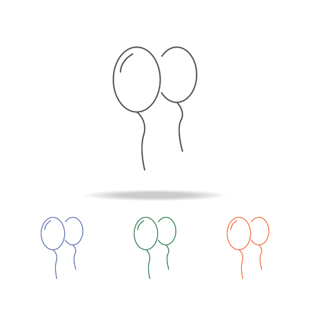 Balloon icon. Element of a party multi colored icon for mobile concept and web apps. Çizim