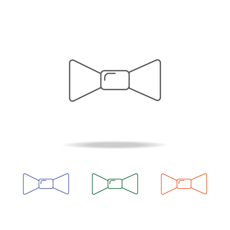 Butterfly tie icon. Element of a party multi colored icon for mobile concept and web apps.