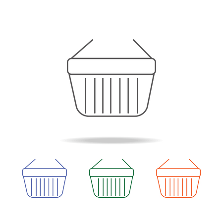 Shopping basket icon. Element of a shopping multi colored icon for mobile concept and web apps. Thin line icon for website design and development, app development. Premium icon on white background.