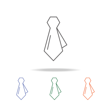 necktie icon. Element of a shopping multi colored icon for mobile concept and web apps. Thin line icon for website design and development, app development. Premium icon on white background