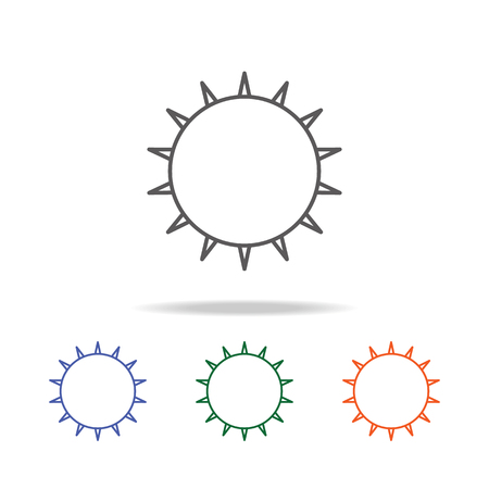 Sun icon. Element of a space multi colored icon for mobile concept and web apps. Thin line icon for website design and development, app development. Premium icon on white background Illustration