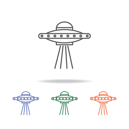 Space Aliens. UFO icon. Element of a space multi colored icon for mobile concept and web apps. Thin line icon for website design and development, app development. Premium icon on white background