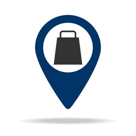 weighing place in blue map pin icon. Element of map point for mobile concept and web apps. Icon for website design and development, app development. Premium icon on white background