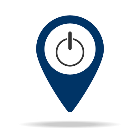inclusion in blue map pin icon. Element of map point for mobile concept and web apps. Icon for website design and development, app development. Premium icon on white background Illustration