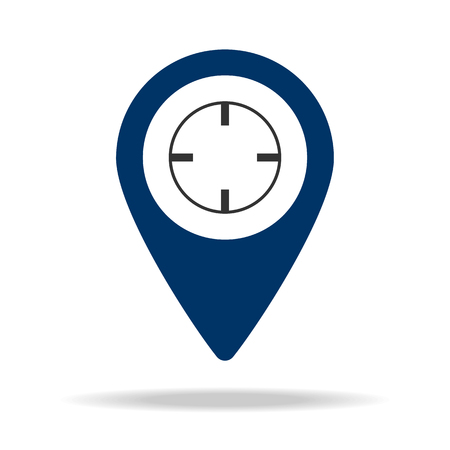hunting place in blue map pin icon. Element of map point for mobile concept and web apps. Icon for website design and development, app development. Premium icon on white background