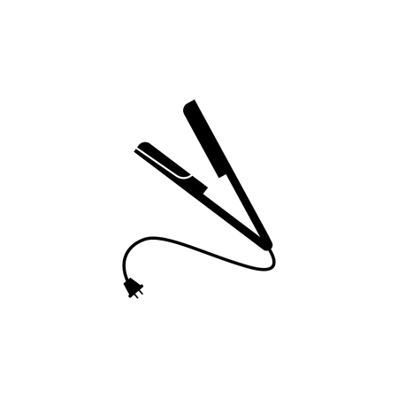 straightening forceps icon. Element of barber shop for advertising signs, mobile concept and web apps. Icon for website design and development, app development. Premium icon on white background