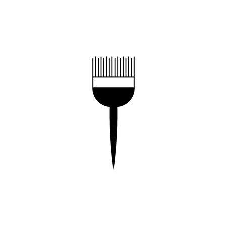 A brush for coloring hair icon.