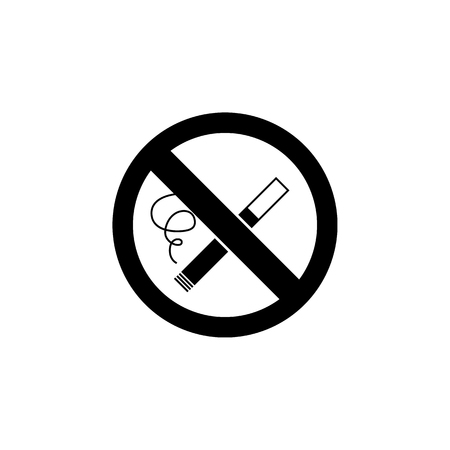 Smoking ban icon. Element of firefighter shop for advertising signs, mobile concept and web apps. Icon for website design and development, app development. Premium icon on white background Stock Vector - 95402230