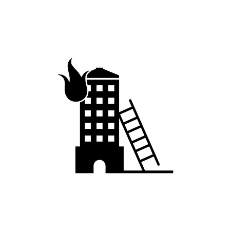 Fire in the building icon.