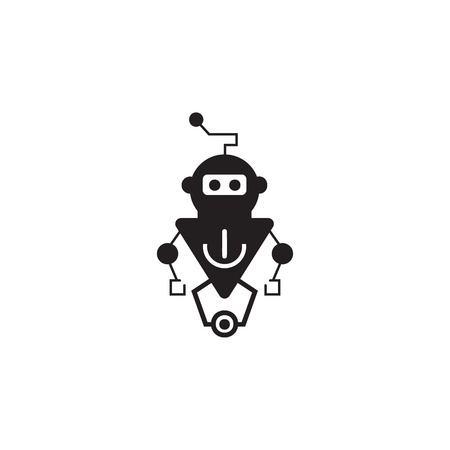 Robot icon. Element of robots for advertising signs, mobile concept and web apps. Icon for website design and development, app development. Premium icon on white background