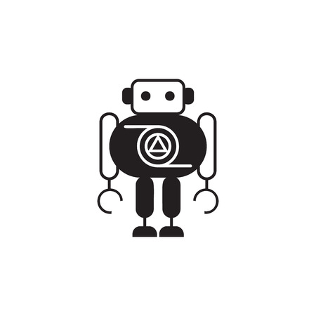 Thick robot icon. Element of robots for advertising signs, mobile concept and web apps. Icon for website design and development, app development. Premium icon on white background
