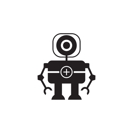 Robot doctor icon. Element of robots for advertising signs, mobile concept and web apps. Icon for website design and development, app development. Premium icon on white background Illustration