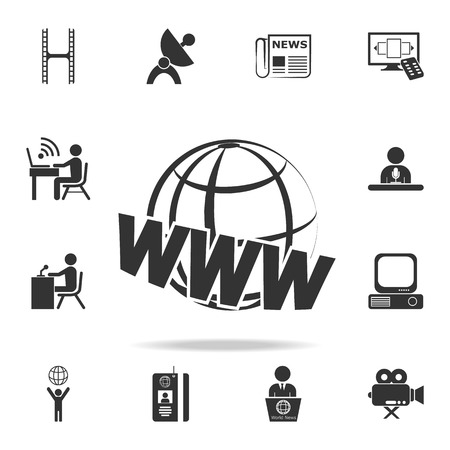 Web earth icon. Detailed set icons of Media element icon. Premium quality graphic design. One of the collection icons for websites, web design, mobile app on white background