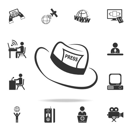 Detailed set of Media element icons