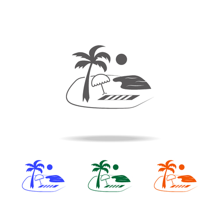 travel and summer beach vacation relax icon. Element of Beach holidays multi colored icons for mobile concept and web apps. Thin line icon for website design and development on white background Vettoriali