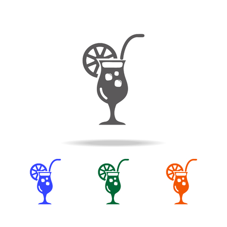Coctail icon. Element of Beach holidays multi colored icons for mobile concept and web apps. Thin line icon for website design and development, app development on white background Illustration