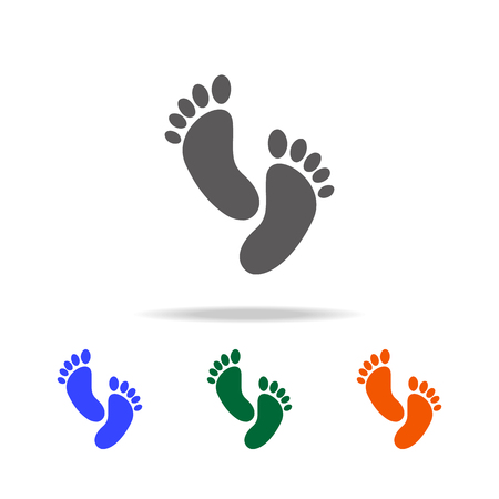 footprint icon. Element of Beach holidays multi colored icons for mobile concept and web apps. Thin line icon for website design and development, app development on white background Illustration