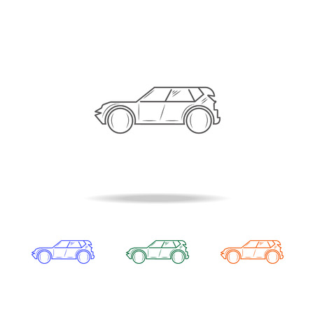 SUV car line icon. Types of cars Elements in multi colored icons for mobile concept and web apps. Thin line icon for website design and development, app development on white background