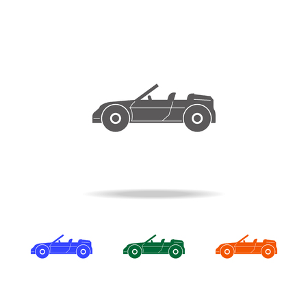 Convertible sports car icon. Types of cars Elements in multi colored icons for mobile concept and web apps. Icons for website design and development, app development on white background.