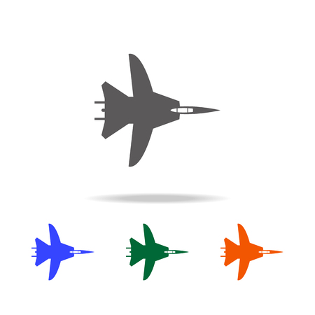 War plane icon. Elements of military aircraft in multi colored icons for mobile concept and web apps. Icons for website design and development, app development on white background.