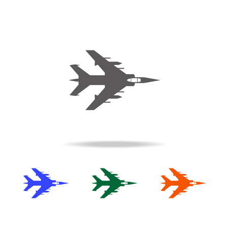 Bombardment plane icon. Elements of military aircraft in multi colored icons for mobile concept and web apps. Icons for website design and development, app development on white background. Illustration