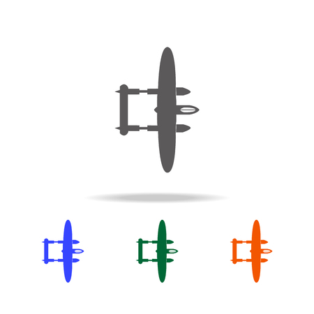 Bombardment lock heed plane icon. Elements of military aircraft in multi colored icons for mobile concept and web apps. Icons for website design and development, app development on white background.