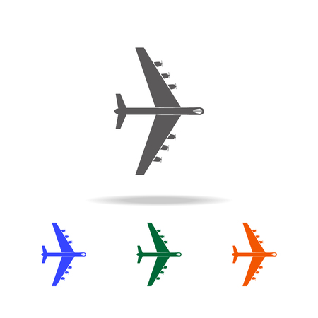 Heavy military aircraft icon. Elements of military aircraft in multi colored icons for mobile concept and web apps. Icons for website design and development, app development on white background.