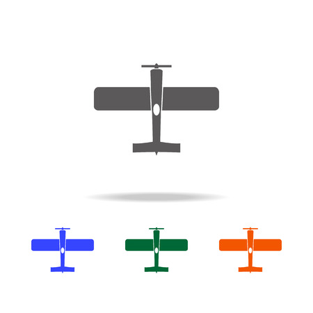 Vintage airplane icon. Elements of military aircraft in multi colored icons for mobile concept and web apps. Icons for website design and development, app development on white background.