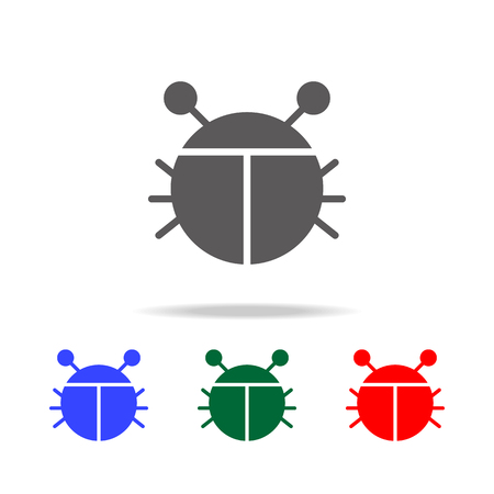 Bug Vector Icon. Elements in multi colored icons for mobile concept and web apps. Icons for website design and development, app development on white background