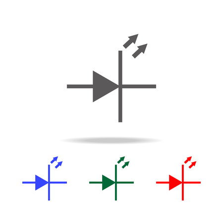 Electronic circuit symbol icon. Elements in multi colored icons for mobile concept and web apps. Icons for website design and development, app development on white background