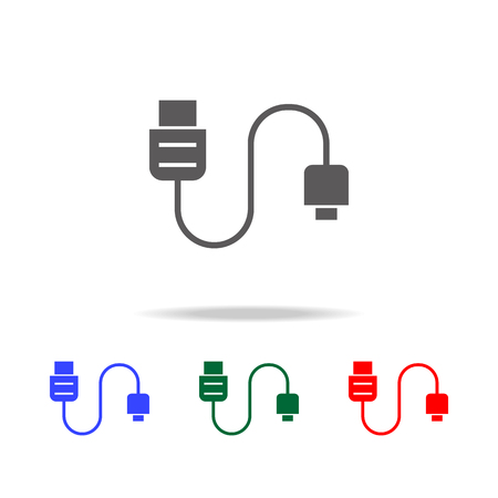 Phone tablet cable icon. Elements in multi colored icons for mobile concept and web apps. Icons for website design and development, app development on white background