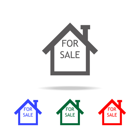 home for sale icon. Elements in multi colored icons for mobile concept and web apps. Icons for website design and development, app development on white background Stockfoto - 96002566