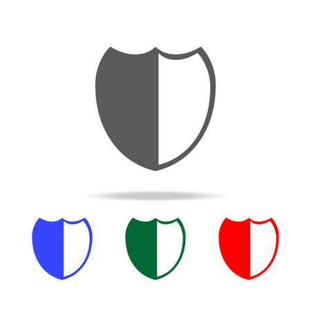 shield icon. Elements in multi colored icons for mobile concept and web apps. Icons for website design and development, app development on white background