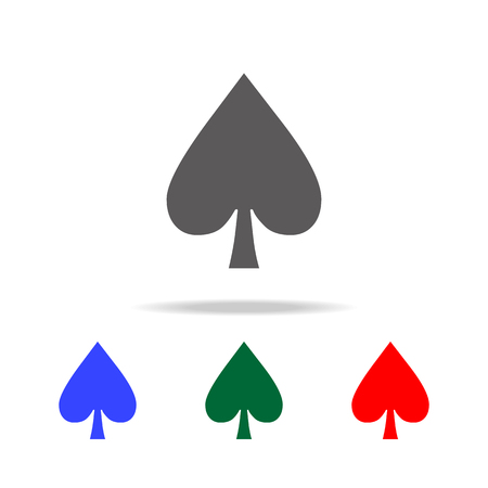 Spades icon. Elements in multi colored icons for mobile concept and web apps. Icons for website design and development, app development on white background