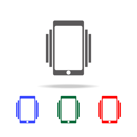 Smartphone or mobile phone ringing or vibrating icon. Illustration
